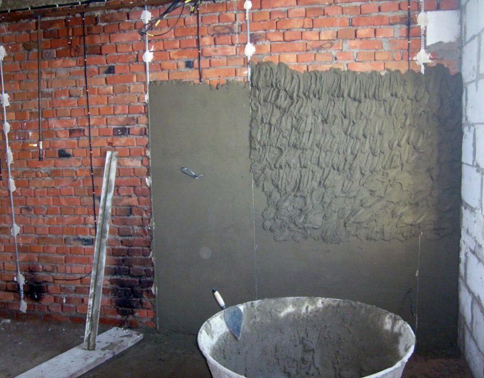 Штукатурка кирпичных стен в минске цена и фото